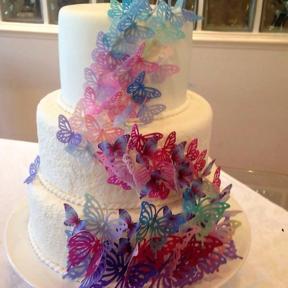 Ateli de papel arroz cida blaz bolo cabelo borboletas bolo de borboletas altavistaventures Gallery