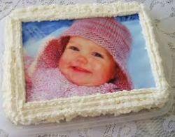 Topo de bolo com fotografia (personalizado)