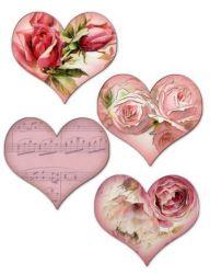Corações - recortados no desenho (pacote misto)